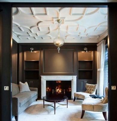 家庭客厅吊顶效果图 奢华高端装饰客厅
