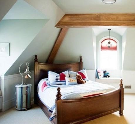 不规则阁楼卧室设计 专属私密空间