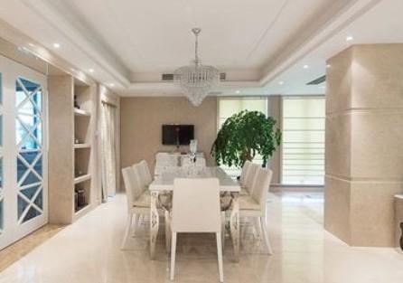 室内装修欧式风格图片:餐厅在门口正对面