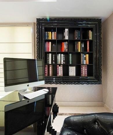 欧式古典风的书架,非常特别非常好看的小型书架