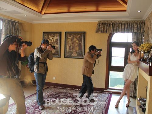 拍摄别墅样板房
