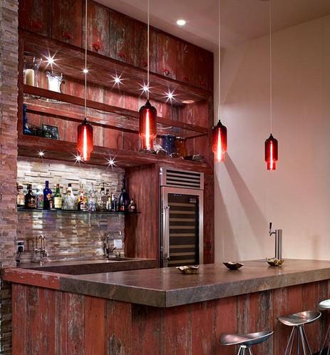 2013家装酒柜效果图:同样具有酒吧魅力的家庭装修酒柜设计还有这一款