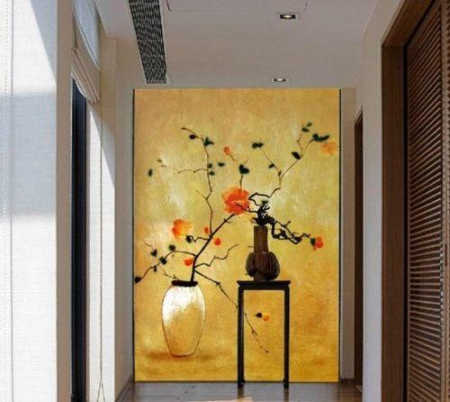 手绘唯美中国风背景墙