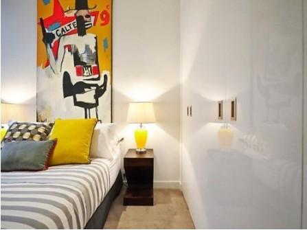 艺术公寓装修设计图:嘻哈风格-纯美风格精彩共享 个性公寓设计图图片