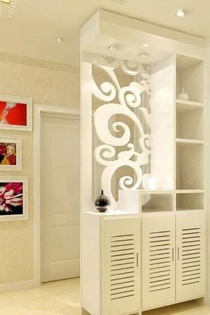 门口鞋柜装修效果图 纯净自然魅力