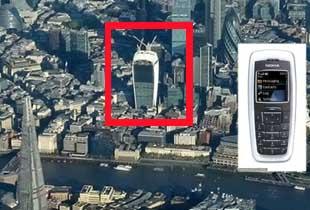 英国伦敦建新地标建筑 外形酷似诺基亚手机