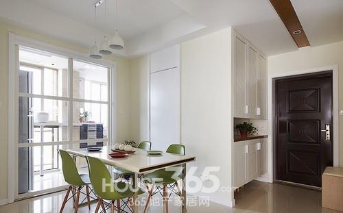 两室两厅装修图 80平米明亮绿意居室赏析 高清图片