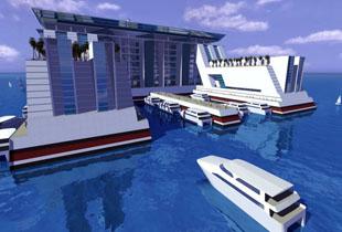 """美国设计环游地球""""海上城市"""" 可住5万永久居民 配套齐全"""