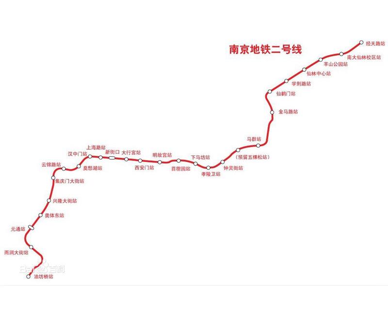 地铁二号线线路图
