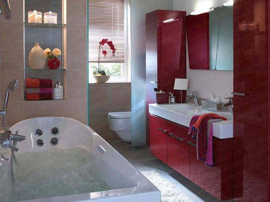 设计/小卫浴大空间设计图:磨砂玻璃移门隔断...