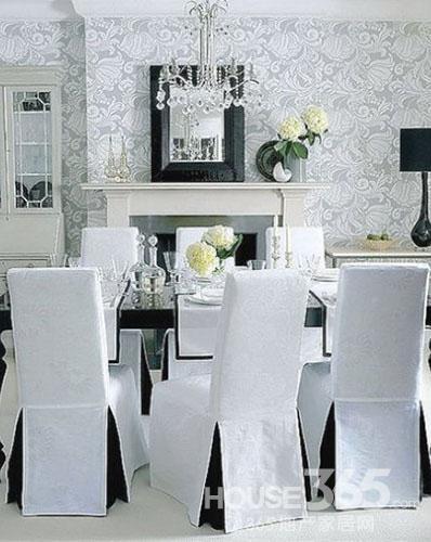 经典的黑白餐厅设计 永不过时的时尚