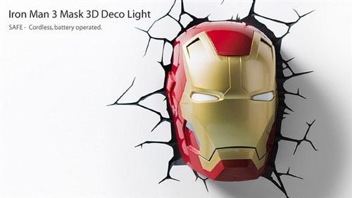 超级英雄壁灯酷感十足 破墙而出显霸气