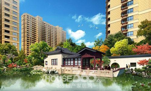 昆山颐景园古典特色一角示意