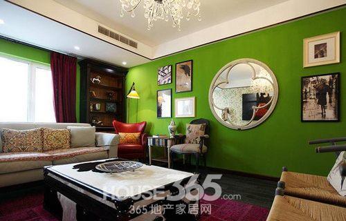 客厅淡绿色装修效果图