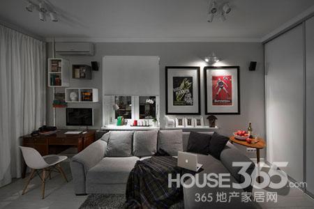 个性单身公寓设计图 复古混搭时尚