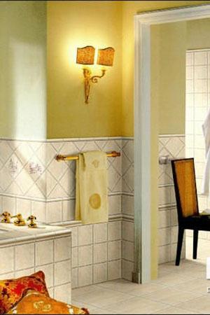 浪漫卫浴间设计图 瓷砖铺贴新花样