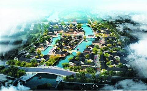 为了沟通虎丘风景区与金鸡墩遗址间的沿河两侧