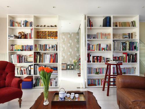 現代歐式客廳及溫馨書房裝修效果圖鑒賞-虎城商都