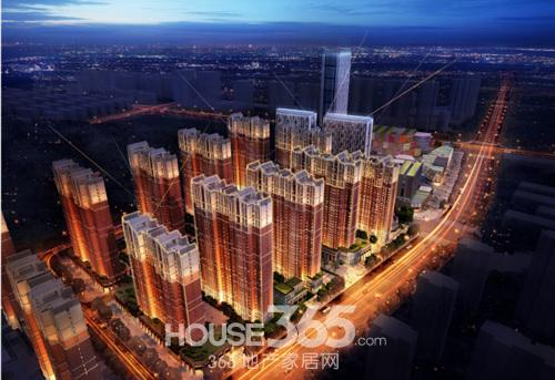 (蚌埠新地城市广场繁华夜景 365地产家居网 资讯中心)