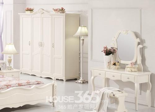 色彩统一的象牙白韩式田园风格的家具