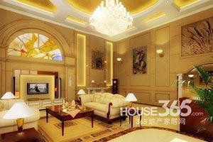 别墅客厅装修设计  奢华气质就要品质