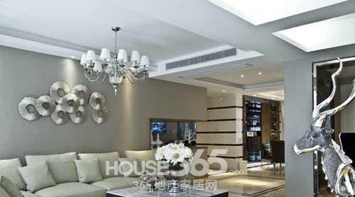 100平米装修样板间—平客厅沙发区
