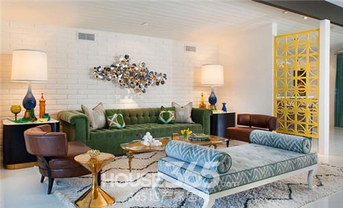 普通家庭客厅装修 色彩把握很重要 高清图片
