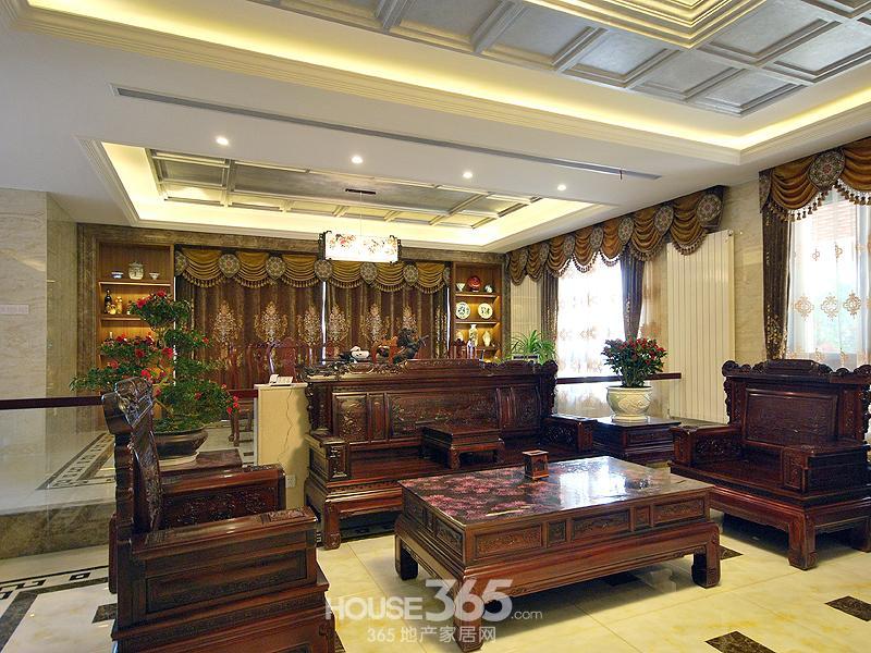 现代别墅客厅木饰面效果图