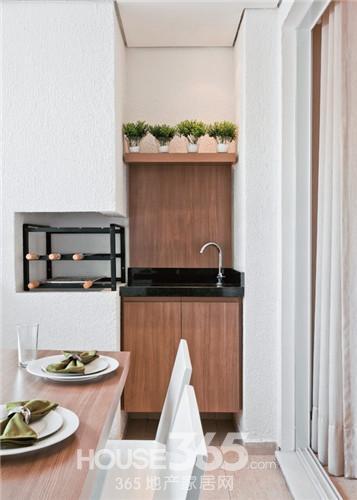 70平米一居室装修效果图 清新透亮